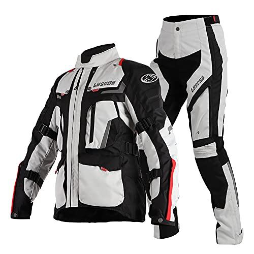 LITI Damen Motorradkombi Jacke + Hose 2 Stück CE Armour Cordura Textil 100% Wasserdicht Für Roller Biker Touren