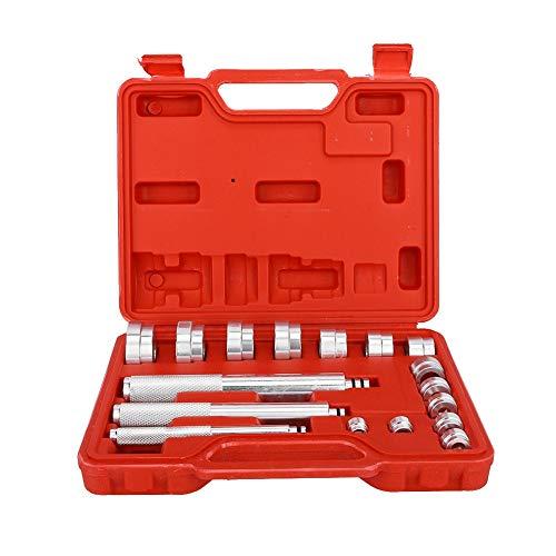 Wheel Bearing Sealing Tool, 17 Pcs Automotive Universal Aluminum Alloy Bearing Disassembler Professional Car Repair Tool