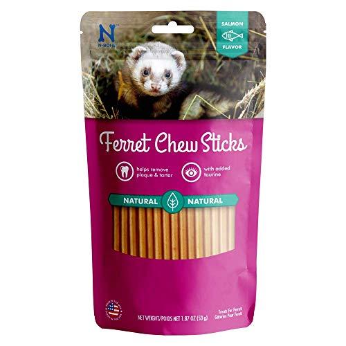 N-Bone Ferret Chew Treats Salmon Flavor Natural Long Lasting with Taurine 1.8 oz