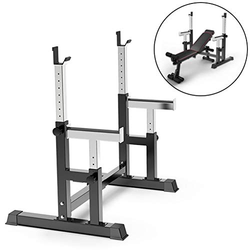 Why Should You Buy JNBJNB Squat Rack Bench Press Barbell Rack Gym Adjusted Barbell Rack Multifunctio...