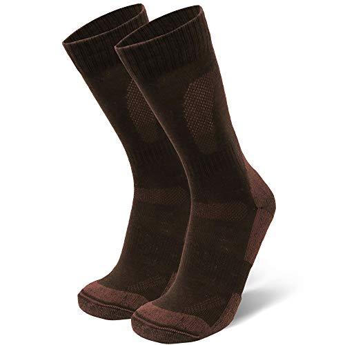 Merino Wool Hiking & Walking Socks 1 pack (Oak Brown, US Women 11-13 // US Men 9.5-12.5)