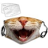 Lulupi Katze Mundschutz Multifunktionstuch 3D Druck Maske Waschbar Baumwolle Stoffmaske Alltagsmaske Katzenmotiv Tiermotiv Mund und Nasenschutz Face Halstuch Schals