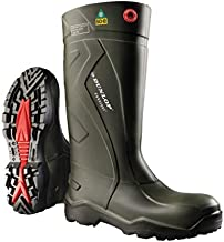 Dunlop Protective Footwear E76294308 Purofort Full Safety Boots with Steel Toe, 100% Waterproof Purofort Material, Lightweight and Durable Protective Footwear, Slip-Resistant, Men Size 8/Women Size 10