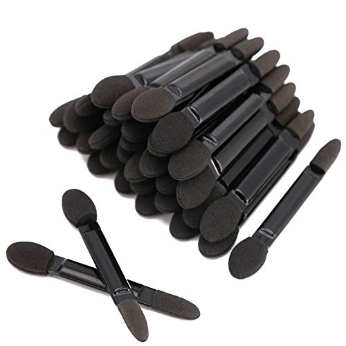 Fantasea Professioneller Lidschattenpinsel mit doppeltem Kopf, Kosmetik-Werkzeug, Einweg-Lidschatten-Schwammpinsel, Make-up-Applikator (50 Stück)