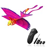 HANVON Go Go Bird Flying Toy,Mini RC Flying Bird Helicopters,Bionic Flying Bird,Mini Drone-Tech Toy,Remote Control Flying Toys,Easy Indoor Outdoor Small Flying Toys for Kids, Boys and Girls,Hot Pink
