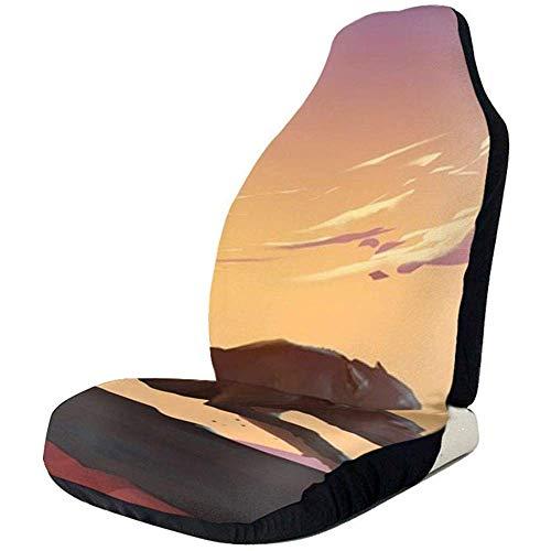 Preisvergleich Produktbild Sobre-mesa Running at Sunset Autositzbezüge 1er-Set,  Fahrzeugsitzschutz Fit Auto,  LKW,  Geländewagen