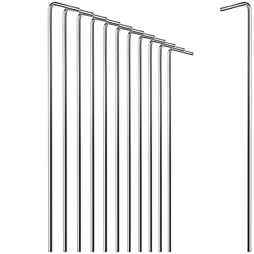 com-four® 12x Zelt-Heringe aus Stahl - Lange und robuste Erdnägel für Camping und Outdoor - ideal für normalen und harten Boden - Ø 5 mm