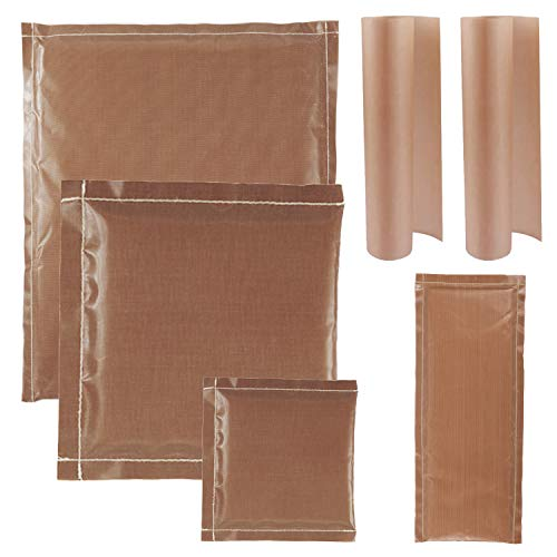 YaeCCC Heat Press Pillow Heat Transfer Pillow Set with 4Pcs Non-Stick Pressing Pillow, 2Pcs Sheet for Heat Press Printing