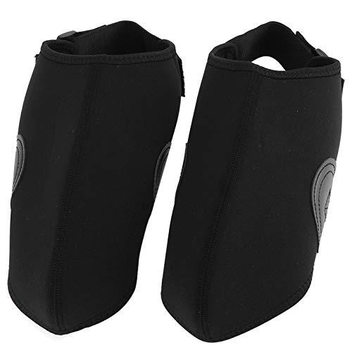 DAUERHAFT Cubierta para Botas de Nieve Cubierta para Zapatos de Media Mano Forma Segura de Raquetas de Nieve, para Proteger los Zapatos de esquí Equipo de cubrezapatos(Black)