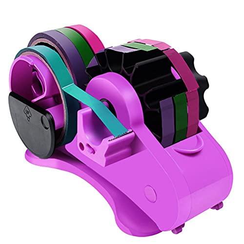 Tianbi Cortador de cinta multifunción, dispensador automático de cinta con núcleo de 1 pulgada y 3 pulgadas para el hogar, oficina, escuelas y almacenes