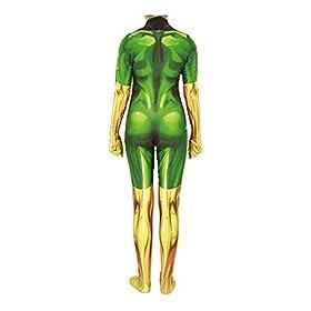 Superhero Cosplay Costume for Womens Halloween Full Set Bodysuits Zentai 3D Style Jumpsuit