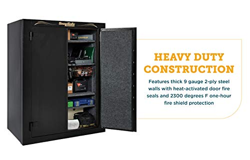 SnapSafe Super Titan XL Double Door Modular Gun Safe, Model 75014 - Secure Heavy Duty Safe Ideal as a Firearm Safe, Gun Vault, Home Safe for Valuables - Gun Safe with Electronic Lock, Fire Protection