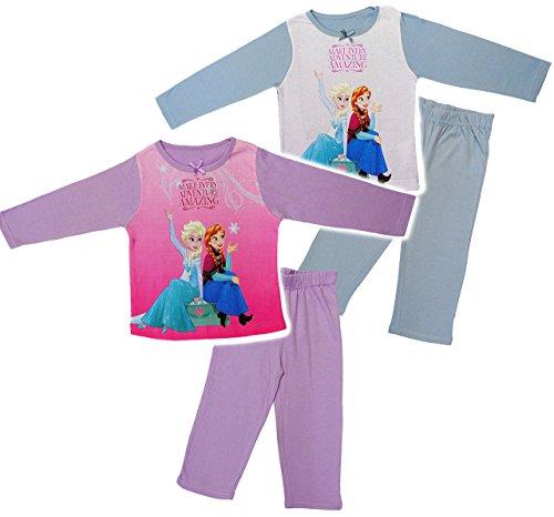 alles-meine.de GmbH 2 TLG. Set _ Hausanzug / Schlafanzug -  Disney Frozen - die Eiskönigin  - Größe: 2,5 Jahre - Gr. 98 - 100 % Baumwolle - Langer Pyjama / Sportanzug langärmel..