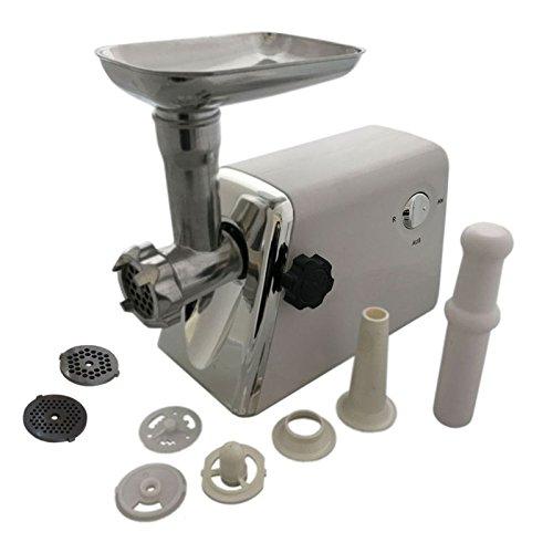 1200W Fleischwolf Wurstfüller Hackfleischmaschine Wurstfüllmaschine Küchenmaschine mit Zubehör und Aufsätze