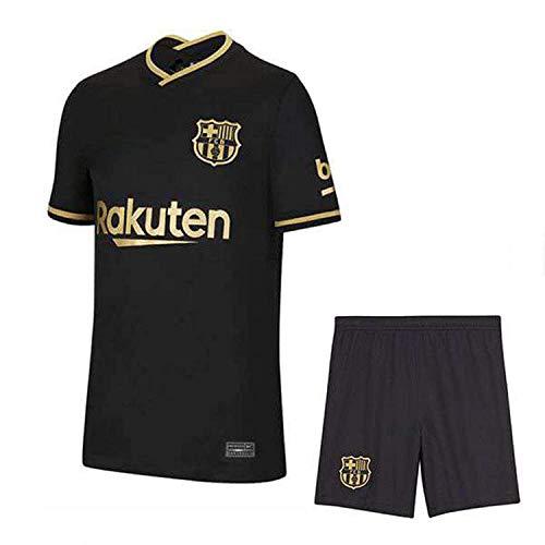 TAF Barcelona Away 2020-21 Football Jersey with Short for Men and Women (Medium) Black