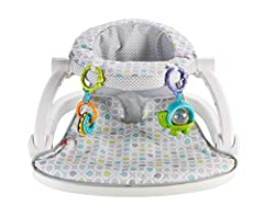Frustration Free Packaging: Easy to open, 100 percent recyclable, and less packaging waste Soft, cushy seat pad provides a comfy environment Supports baby in an upright position Wide, sturdy base helps keep baby comfortable & well supported 2 linkabl...