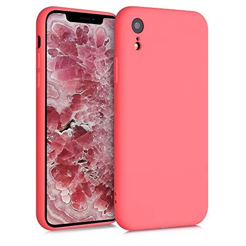 kwmobile Carcasa Compatible con Apple iPhone XR - Funda de Silicona TPU para móvil - Cover Trasero en Coral neón