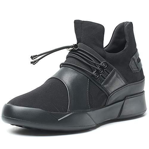 CHAMARIPA Aufzugs-Turnschuhe Sport-Beil?ufige Leichte Schuhe mit Versteckter anhebender Ferse f¨¹r Man -7cm Taller