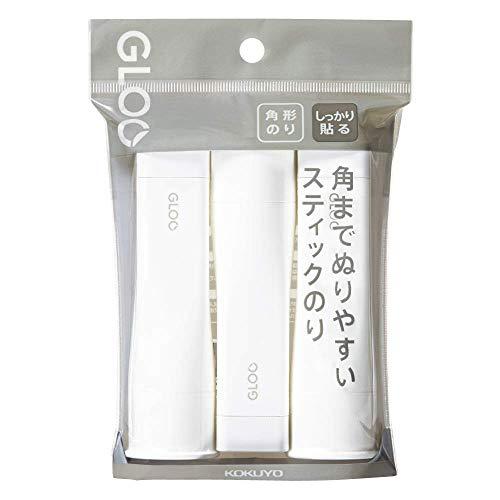 (まとめ買い)コクヨ グルー スティックのり 四角タイプ しっかり貼る Mサイズ 3個パック タ-G302-3P 【×5】