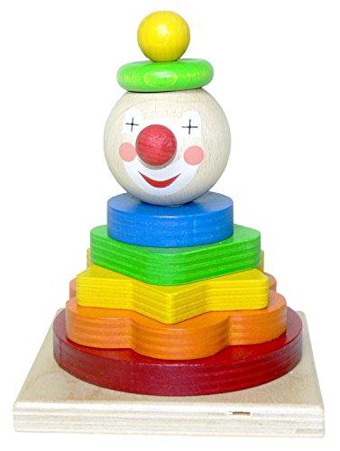 Hess pile Tour en bois Clown jouet