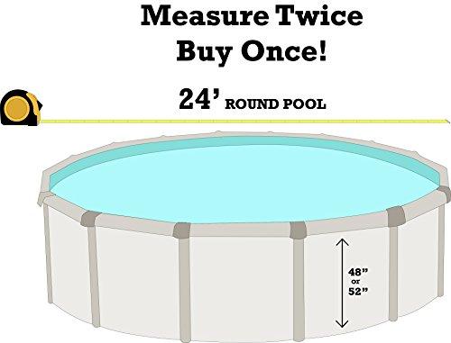 "Smartline Boulder Swirl 24' Round Above-Ground Swimming Pool Overlap Liner | 20 Gauge | 48"" / 52"