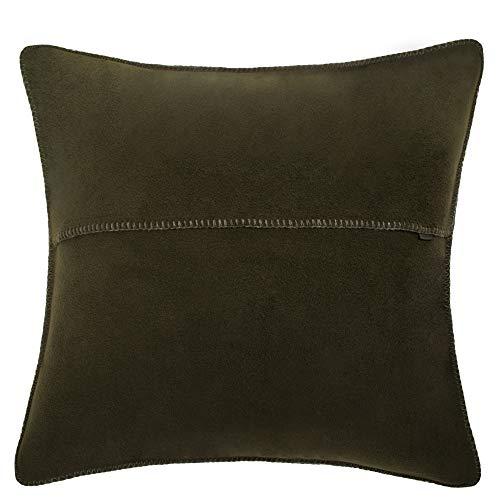 Soft-fleece kussensloop – polarfleece met gehaakte steek – zachte, hoogwaardige sofa-kussensloop – 50 x 50 cm – van 'zoeppritz since 1828'