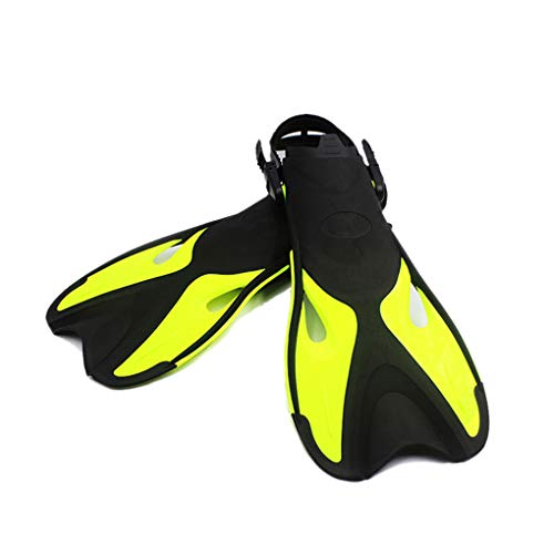 rongweiwang Swimming Fins Kids Adult Adjustable Submersible Professional Foot Flippers Submersible Professional Dive Open Diving Snorkeling Shoes