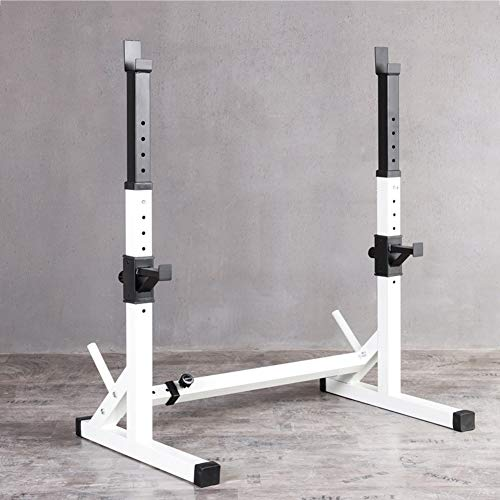 EEUK Adjustable Height Squat Rack Stands, Squat Rack Bench Press Bar and...