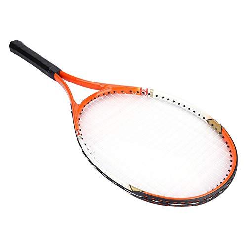 Raquetas De Tenis para Adultos, Paquete De 2, Raqueta De Tenis De Aleación De Aluminio, Raqueta De Tenis para Principiantes, Resistente para Accesorio(Naranja)