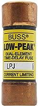 Cooper Bussmann LPJ-10SP 10 Amp 600 Volt AC 0.81 Inch dia x 2.25 Inch L Current, N/A by BUSSMANN
