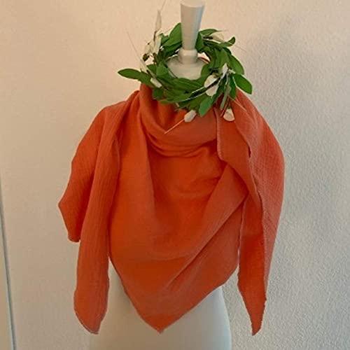 Selfmadeclothes Musselin-Tuch XXL Dreieckstuch 200 cm * 90 cm 100% Baumwolle Uni verschiedene Farben