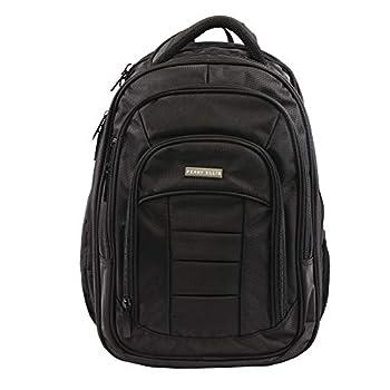 Perry Ellis Men s M150 Business Laptop Backpack Black One Size