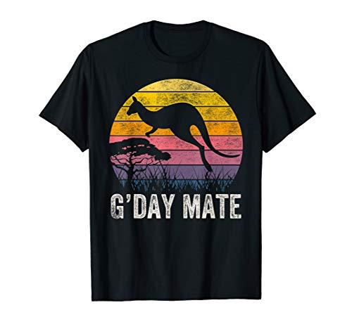 Australia G'Day Mate Shirt Funny Kangaroo Australian Symbol T-Shirt