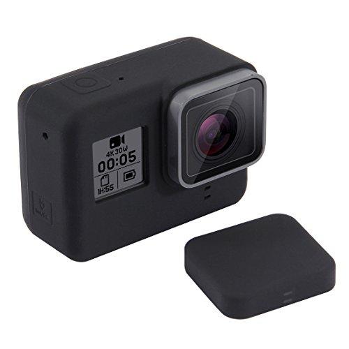 Activity Camera Silicone Case Cover Silicone Cover met lens deksel for GoPro Hero7 zwart / 7 wit / 7 zilver / 6/5 (zwart), zwart