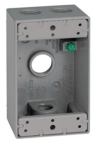 Sigma Electric 142533/4-Zoll 4-Loch 1Fach Box, grau