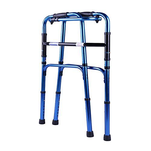 Candyana Walking Frame Folding Lightweight Aluminium Walker Höhenverstellbar Kann Auf Und Ab Treppen Rollator Disability Aids