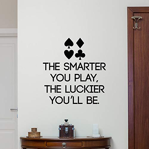 Poker offerte muur sticker belettering spelen Casino Vinyl Sticker spel Art Deco Wall Art muurschildering Casino decoratie Home Decor 57x59cm
