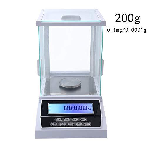 HUKOER Lab Digitale Analytische Waage 200g/0,0001 g Hochpräzise Labor Feinwaage Analytical Balance