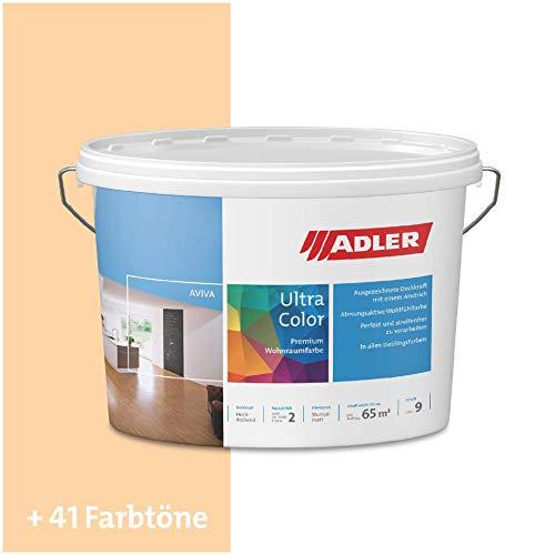 ADLER Ultra-Color Wandfarbe - Volltonfarbe und Abtönfarbe in 100+ Farbtönen - Sahara C12 031/5 Orange 1 l Atmungsaktiv, Hochdeckend, Lösungsmittelfrei