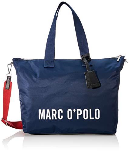 Marc O'Polo Damen Jule Schultertasche, Blau (Navy), 9x33x46 cm