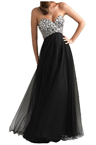Ouman Women's Long Tulle Party Dress Prom Gown Black XL
