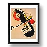 Period Prints A3 Poster, gerahmt, Motiv Bauhaus Weimar 1923