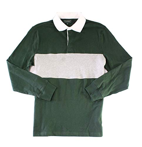Club Room Men's Colorblocked Rugby Shirt (Deep Woods, Small)