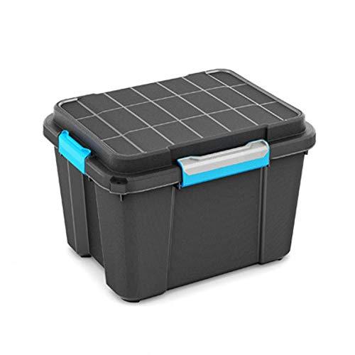 Kis Scuba Box M - 49,5X39X34H Nero/ Man. Azz.Grigio