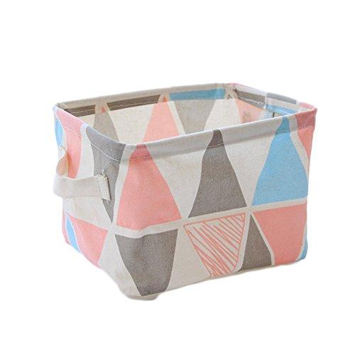 Westeng Faltbarer Aufbewahrungskorb Stoffaufbewahrungsbox Tisch Veranstalter Stoffschublade Mit Griffen f/ür Briefpapier und Make up,20*16*14cm