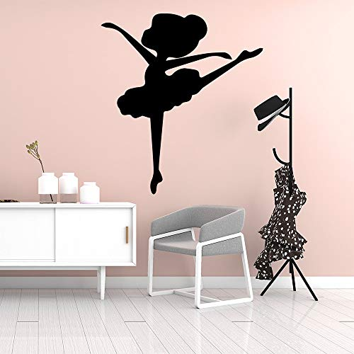 Pegatinas de pared creativas para bailarinas Diy decoración de papel tapiz sala de estar dormitorio calcomanías de pared extraíbles colores personalizables 58cm X 64cm