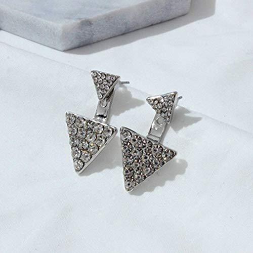 Burenqi Oorbel Sieraden Kristal Voorkant Terug Dubbele Sided Stud Oorbellen Voor Vrouwen Mode Oor Jas Piercing Earing