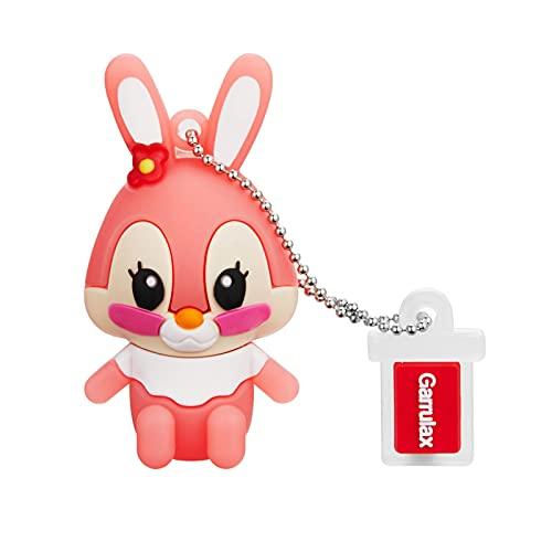 Garrulax Pendrive, USB Chiavette 8GB / 16GB / 32GB Premium Impermeabile Cute Animale in silicone ad alta velocità USB 2.0 dati, unità di memoria flash Penna Disk Pen Drive (64GB,Rabbit)