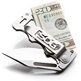 SOG Money Clip Pocket Knife - Cash Card Folding Knife, EDC Knife w/ 2.75 Inch Credit Card Knife Blade and Stainless Steel Money Clip Card Holder (EZ1-CP)