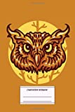 Composition Notebook: Head Owl Composition Notebook for School